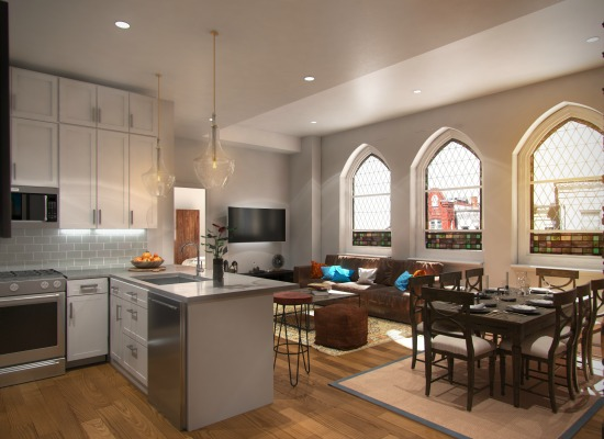 Sales Underway for 30 Capitol Hill Condos in a Former Gothic Church: Figure 1