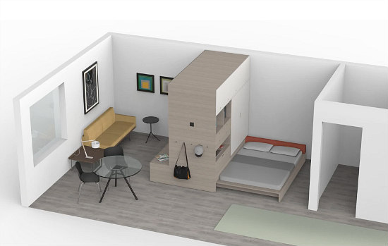 The Motorized Modular Furniture Meant For Micro-Units: Figure 1