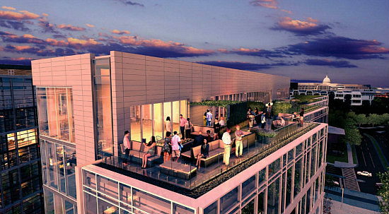 New Restaurant Space Proposed For Hotel Roof at The Wharf: Figure 1