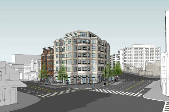 A First Look at the New Design for Adams Morgan's SunTrust Bank Redevelopment: Figure 1
