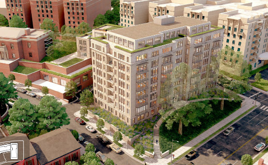 A New Look for 110-Unit Project Across From Meridian Hill Park: Figure 1