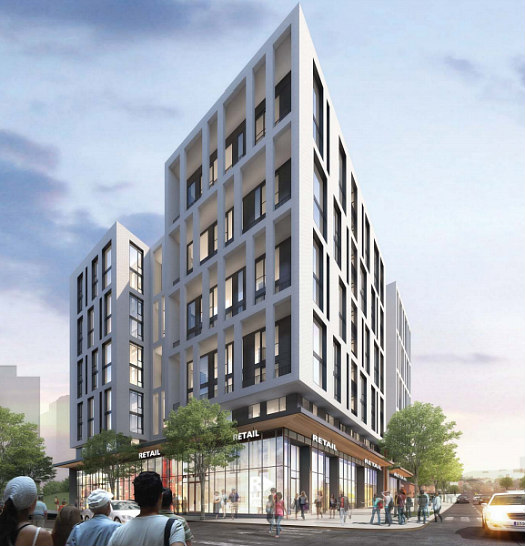 Design for 134-Unit Union Market Building Goes Darker and More Modern: Figure 3