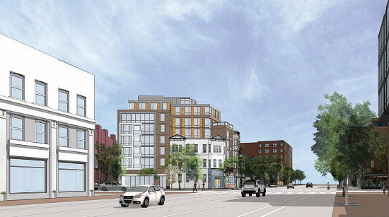 More Refined Renderings Revealed for Proposed Barrel House Apartments: Figure 4