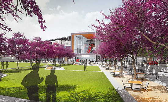 The New Design For the DC United Stadium Includes More Retail and a Public Park: Figure 1