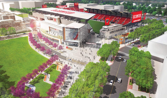 The New Design For the DC United Stadium Includes More Retail and a Public Park: Figure 2