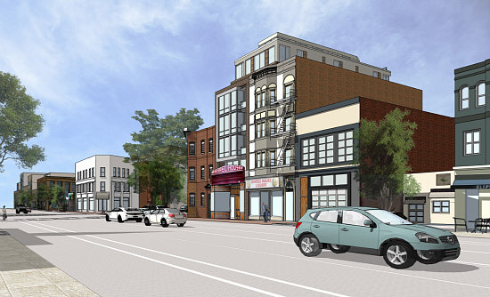 More Refined Renderings Revealed for Proposed Barrel House Apartments: Figure 3