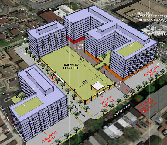 1,000 Apartments, A Charter School, Athletic Space Galore: The 8 Proposals for Northwest One: Figure 13