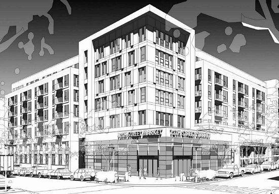 300 Apartments Atop A Grocery Store: The Preliminary Plans for Walter Reed's Town Center: Figure 4
