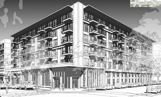 300 Apartments Atop A Grocery Store: The Preliminary Plans for Walter Reed's Town Center: Figure 5