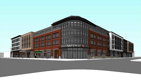 329 Apartments and a New Grocery Store: An Updated Design For Capitol Hill's Safeway Redevelopment: Figure 1