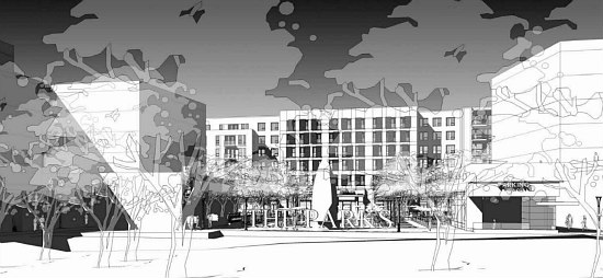 300 Apartments Atop A Grocery Store: The Preliminary Plans for Walter Reed's Town Center: Figure 2