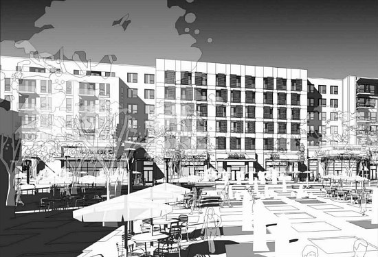 300 Apartments Atop A Grocery Store: The Preliminary Plans for Walter Reed's Town Center: Figure 3