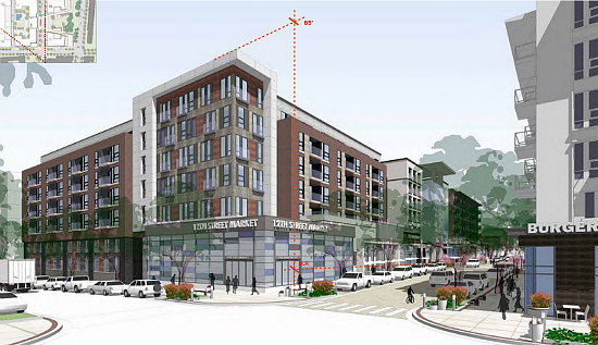 New Renderings Revealed for Walter Reed's Town Center: Figure 3