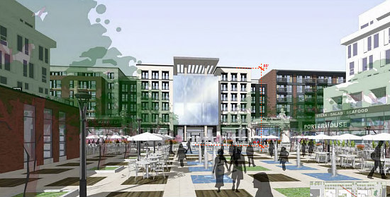 New Renderings Revealed for Walter Reed's Town Center: Figure 2
