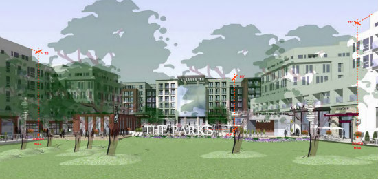 New Renderings Revealed for Walter Reed's Town Center: Figure 1