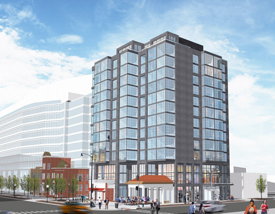 A Look at Douglas Development's Planned 13-Story Hotel at 6th and K Street: Figure 1