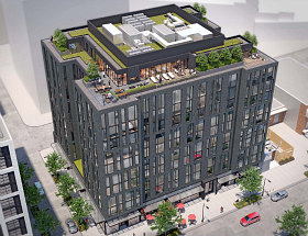 Design for 134-Unit Union Market Building Goes Darker and More Modern
