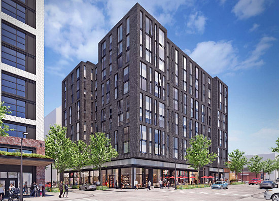 Design for 134-Unit Union Market Building Goes Darker and More Modern: Figure 2