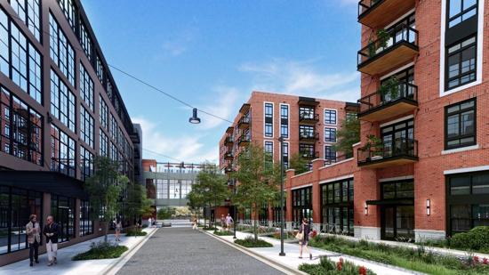 296 apartments at former brookland printing press begin leasing