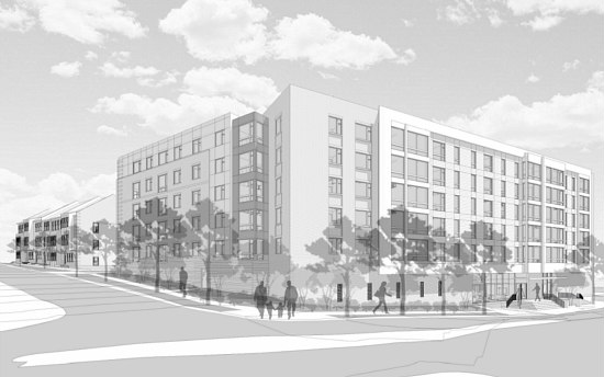 112 Apartments and 19 Townhouses Planned for Arlington Boulevard: Figure 1