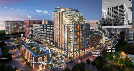 JBG's New Plan for Mixed-Use Complex in Crystal City Includes 350 Apartments: Figure 1