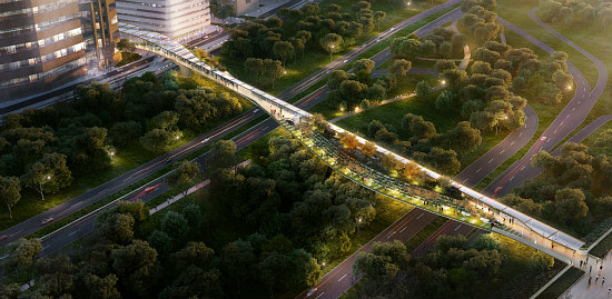 Crystal City Wants a High Line Bridge Connection to National Airport: Figure 1