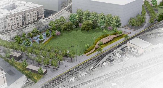 Amphitheater, Food Kiosks, a Dog Run: The Details of the New Eckington Parks: Figure 1