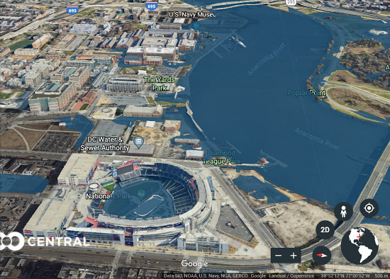 Underwater Innings: New Software Shows Where Rising Sea Levels Would Impact DC: Figure 2