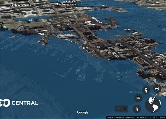Underwater Innings: New Software Shows Where Rising Sea Levels Would Impact DC: Figure 1