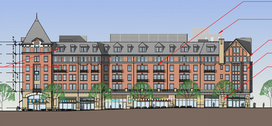 A New Look and Less Parking for Final Monroe Street Market Building: Figure 1