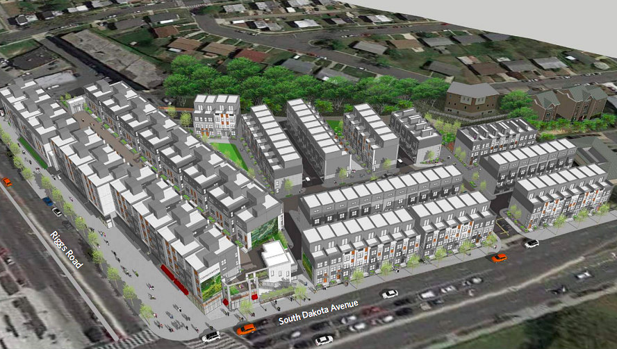Restaurants, Retail and 185 Townhouses Proposed for Fort Totten: Figure 1