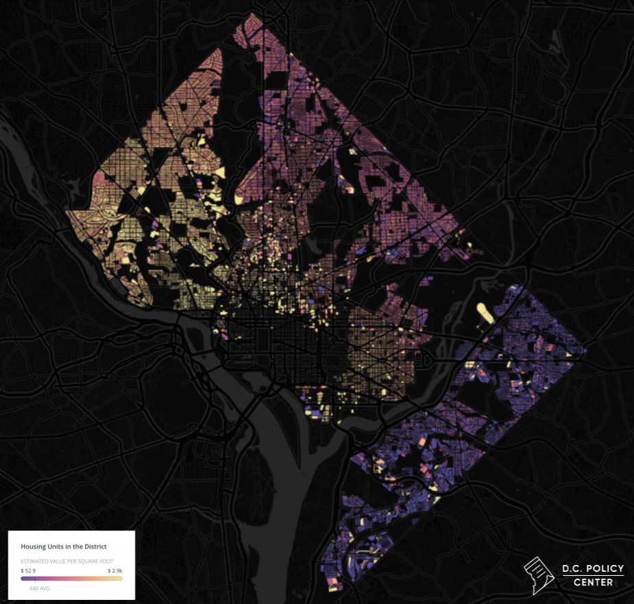 From Brightwood to Congress Heights, Putting DC Starter Homes (and Affordability) into Context: Figure 1
