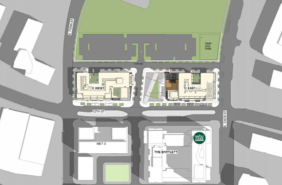 Two Towers with 340 Units: JBG Smith's Plans for Pen Place: Figure 1