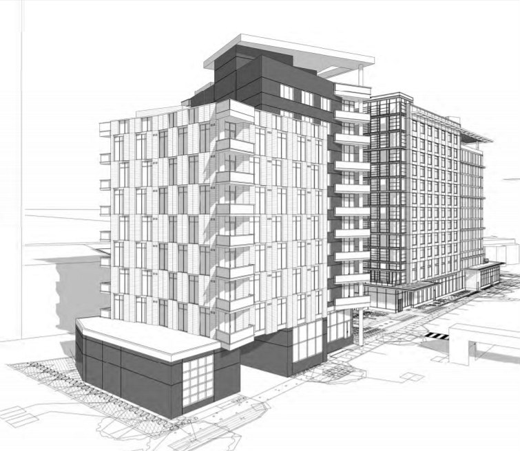 64 Apartments and 160 Hotel Rooms: The Proposed Best Western Redevelopment in Arlington: Figure 2