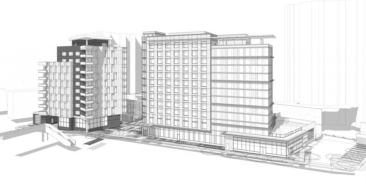 64 Apartments and 160 Hotel Rooms: The Proposed Best Western Redevelopment in Arlington: Figure 1
