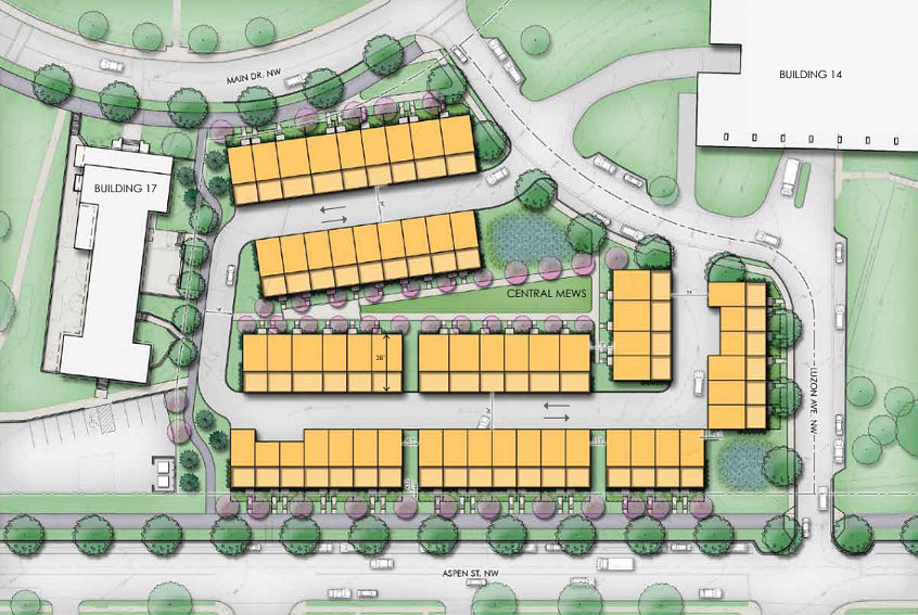 A Look at the 58 Townhouses Planned for Walter Reed: Figure 1