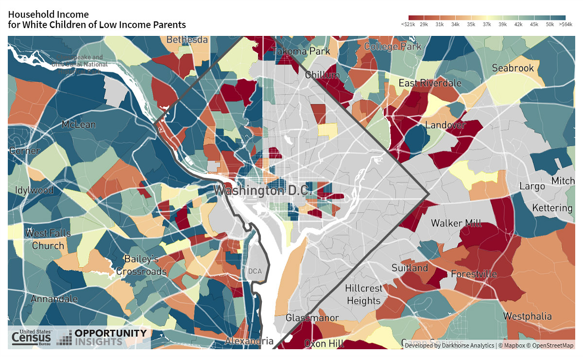 How Where You Live in DC Affects Your Upward Mobility: Figure 3