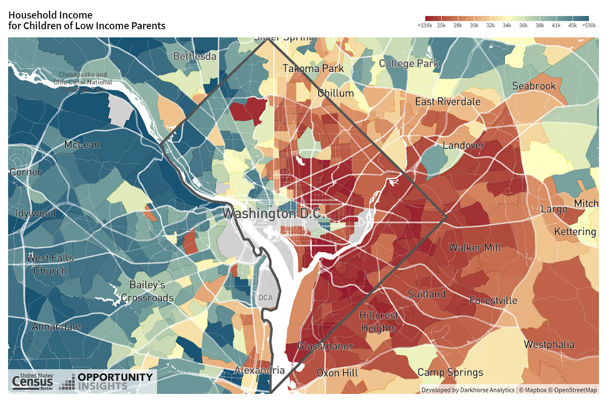 How Where You Live in DC Affects Your Upward Mobility: Figure 1