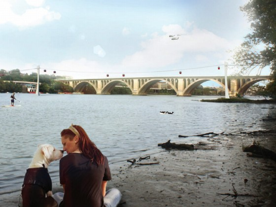 Georgetown University, Federal City Council Throw Their Weight Behind Georgetown-Rosslyn Gondola