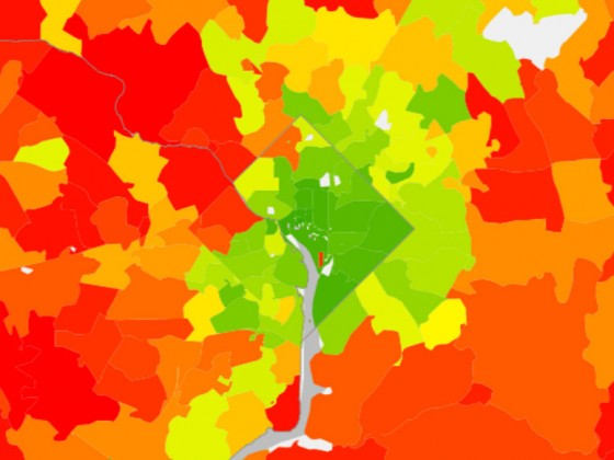 The DC Area's Highest and Lowest Carbon Footprints