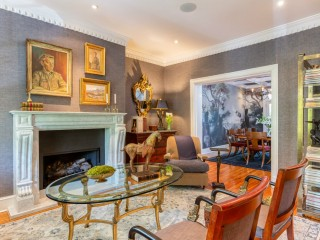 Sophisticated Interiors & Lush Grounds: A Storied Georgian Townhome Hits The Market