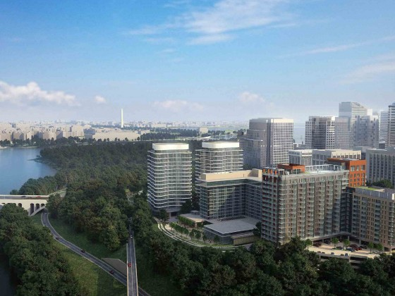 450 Units Including Family-Sized Condos: The Plans for the Key Bridge Marriott