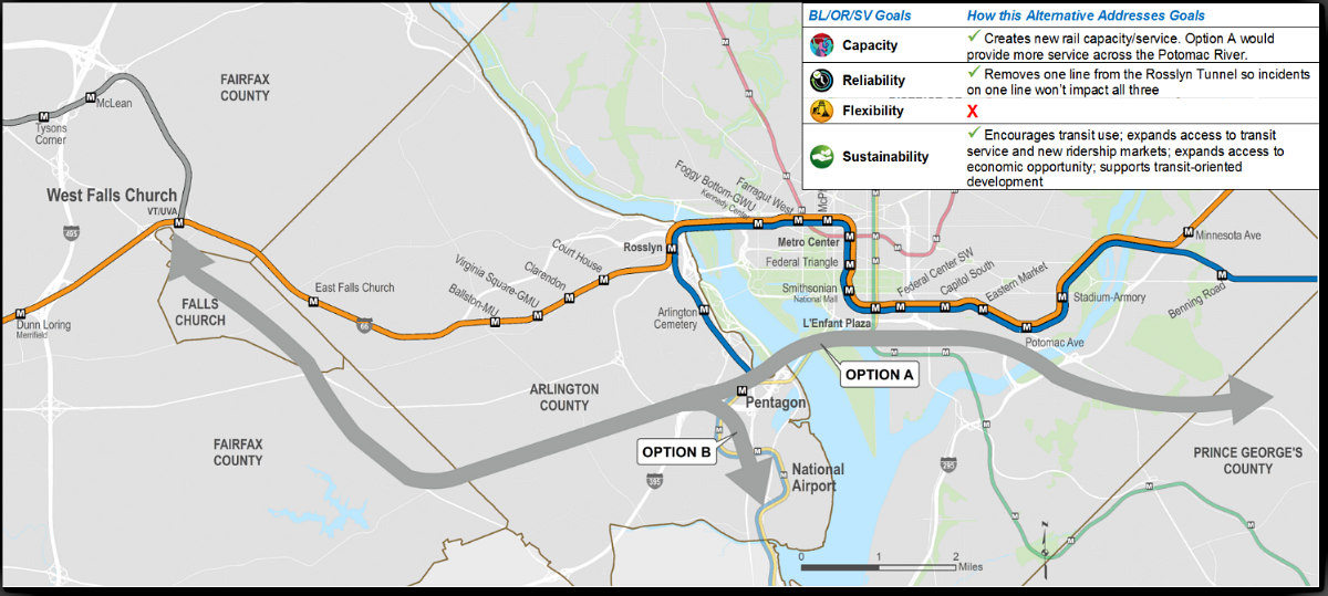 Where a New Silver Line Could Create New Metro Stops