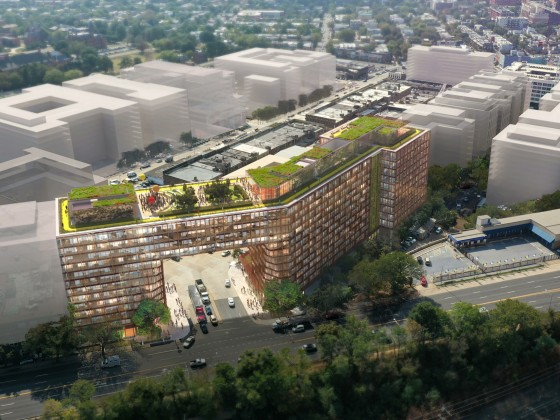 Transparent Elevators, A Rooftop Jogging Path: EDENS Files Plans for Ambitious Union Market Project