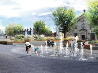 An Amphitheater, Cafe and Splash Park Above North Capitol Street?