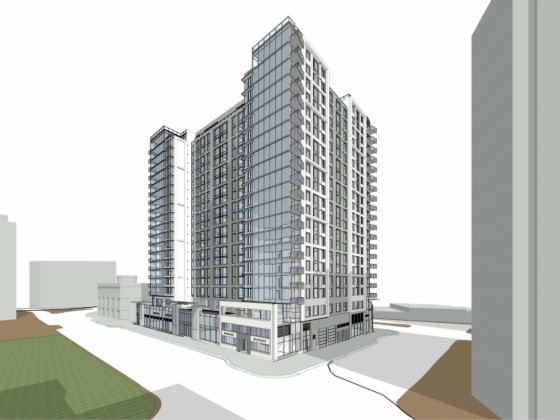418 Apartments, Pedestrian Promenade Proposed for Courthouse Landmark Block