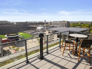 See the First Pitch from the Ballpark District's Hottest Condo Development