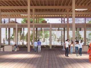 A Timber Retail Pavilion Pitched at St. Elizabeths