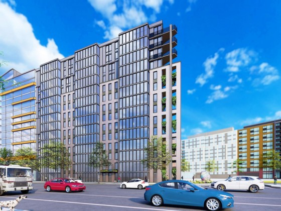116-Unit Triangular Building Pitched For Plot Off New York Avenue